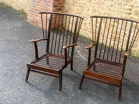 Freecycle Two wooden chairs that need cushions