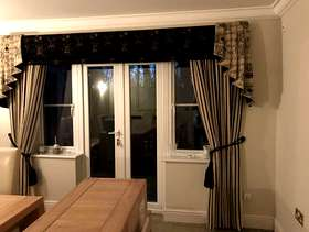 Freecycle Curtains with pelmet and tails