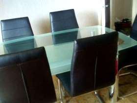 Freecycle Glass dining room table