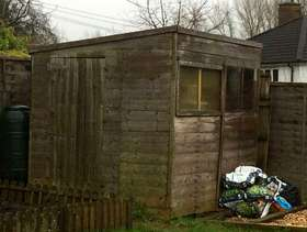 Freecycle Wooden garden shed