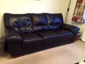 Freecycle 3 Piece Suite in brown leather