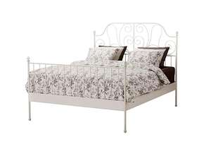 Freecycle Excellent condition - ikea leirvik white metal standard double bed ...
