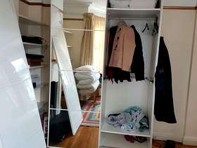 Freecycle Double white Ikea used disassembled and 4 white Ikea Billy ...
