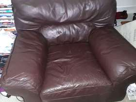 Freecycle Brown leather armchair. Collection only