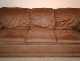 Freecycle Well used couch with couch cover.