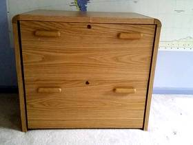 Freecycle Wood Filing Cabinet