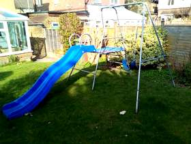 Freecycle Children's swing frame and slide