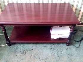 Freecycle Mahogany coffee table.
