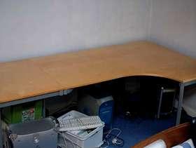 Freecycle Metal Frame Light Wood Veneer Desk