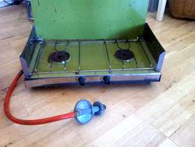 Freecycle Diabolo two ring gas camping stove.