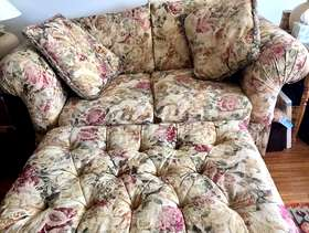 Freecycle Floral Comfy Sofa