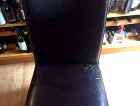 Freecycle Leather dining chairs