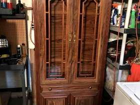 Freecycle Glass-front wooden hutch