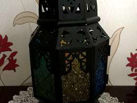 Freecycle Moroccan style lamp