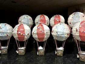 Freecycle Baby boy shower decorations-hot air balloons