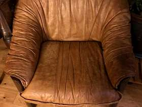 Freecycle Comfy Brown Lounge Chair