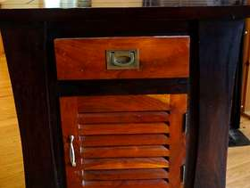 Freecycle 2nd Retro solid teak side cabinet