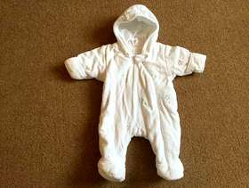 Freecycle Winter Warm, New baby pram suit with inbuilt mittens - ...