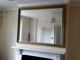 Freecycle Large Gilt Mirror