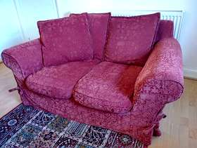 Freecycle FREE Red Two-Seater Sofa