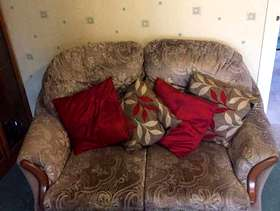 Freecycle 2 seater seater and 1 arm chair