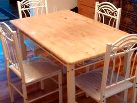 Freecycle Dining table and 4 chairs