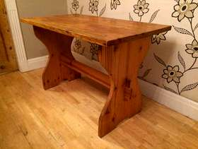 Freecycle Chunky pine kitchen/refectory table