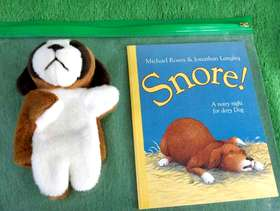 Freecycle Brand New Book and Dog Hand Puppet