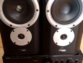 Freecycle Denon Amplifier & 2 Mission Pro speakers