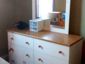 Freecycle White dresser and nightstand