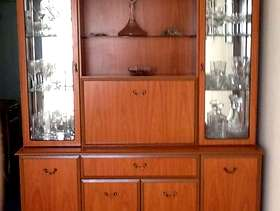 Freecycle Teak coloured dresser/cocktail cabinet