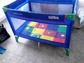 Freecycle Mothercare sleep'n go travel cot plus extra mattress - good ...