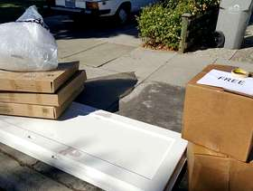 Freecycle Moving Boxes & Packing Peanuts