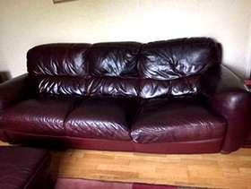 Freecycle 3 seater sofa, 2 seater sofa and footstool