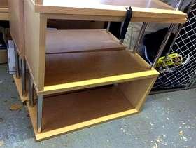 Freecycle Wood & chrome freestanding shelf units