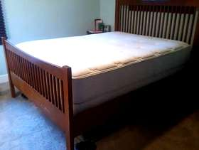 Freecycle Extra Thick Simmons Beauty Rest Queen Bed