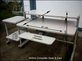 Freecycle Anthro Computer Desk with Accessories