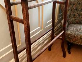 Freecycle Old wooden towel rail