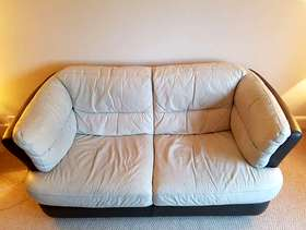 Freecycle Two seater leather sofa