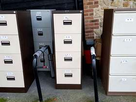 Freecycle 4x metal filing cabinets