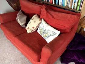 Freecycle Orange sofa
