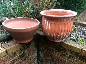 Freecycle 2 medium sized terracotta pots