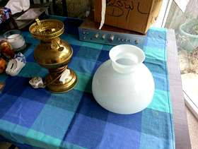 Freecycle Glass bowl Lamp