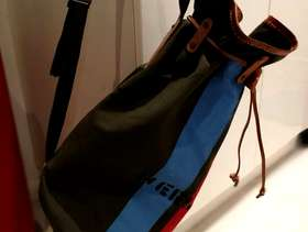 Freecycle Canvas & leather duffel bag