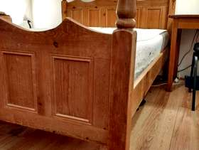 Freecycle Solid Wood Double Bed with Memory Foam Mattress
