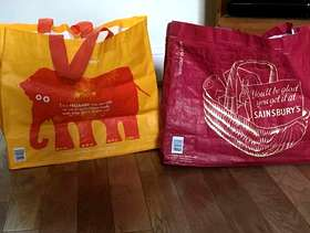 Freecycle Sturdy Sainsbury's carriers NOT thin plastic bags.