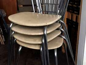 Freecycle 4 Retro Dining Chairs - Metal