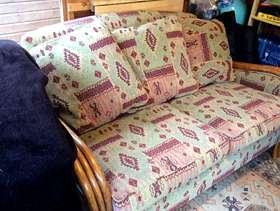 Freecycle 2 Seater settee, tub chair and foot stool