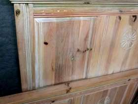 Freecycle King size solid wood bed