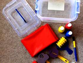 Freecycle Art Starter Kit in Sturdy Plastic Carrying Box